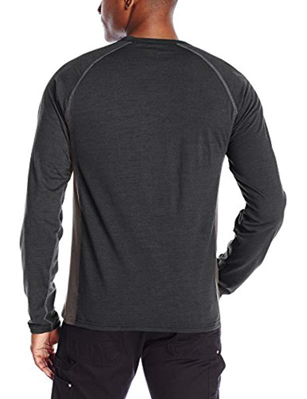 27f3c63d6db Lyst - Caterpillar Flame Resistant Baselayer Long Sleeve T-shirt in Black  for Men - Save 8%