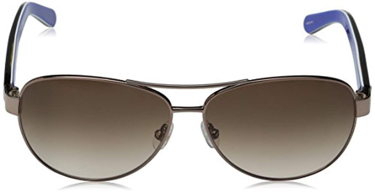 0c6fe8b3a425 Lyst - Kate Spade Kate Spade Dalia 2 Aviator Sunglasses, Silver Dots ...