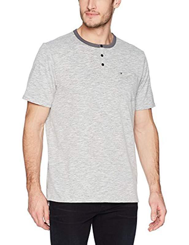 68577307 Lyst - Hurley Nike Dri-fit Lagos Short Sleeve Henley in Gray for Men
