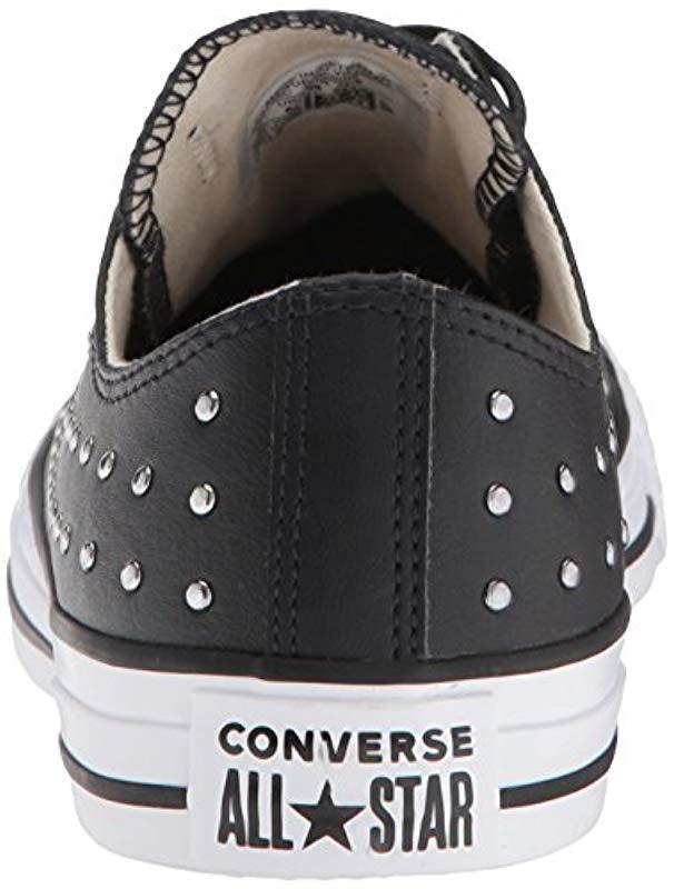 d50dcdb9c7ada Lyst - Converse Ctas Ox Black silver Sneaker in Black - Save 37%