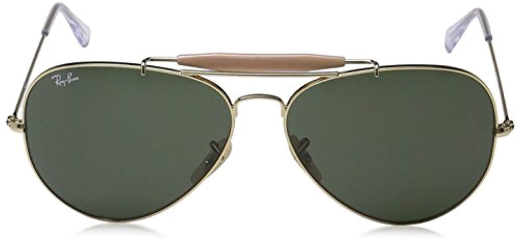 3a7a2d2ff4 Ray-Ban - Outdoorsman Ii - Arista Frame Crystal Green Lenses 62mm Non- polarized. View fullscreen