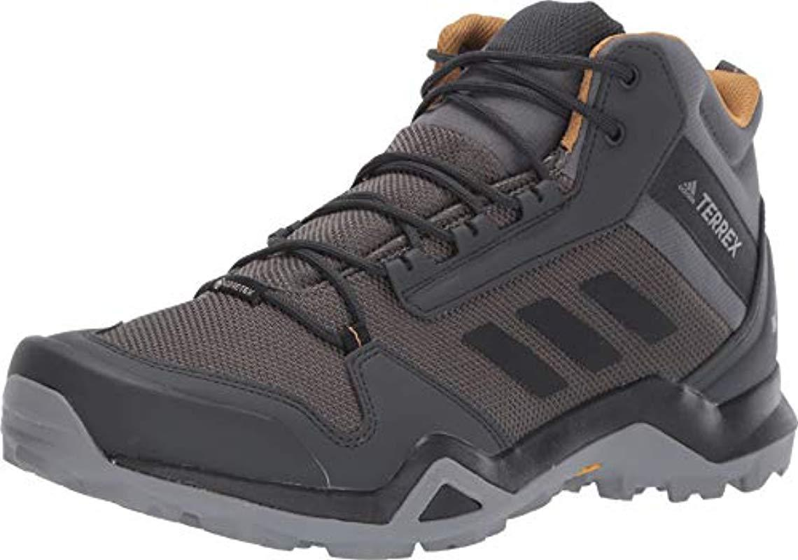 9720b56e1e adidas Originals Terrex Ax3 Mid Gtx Hiking Boot, Grey Five/black ...