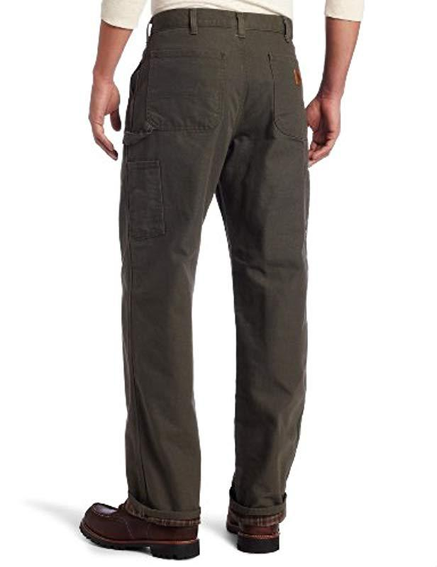 d7211823221f Lyst - Carhartt Washed Duck Work Dungaree Flannel Lined B111 in Gray for Men