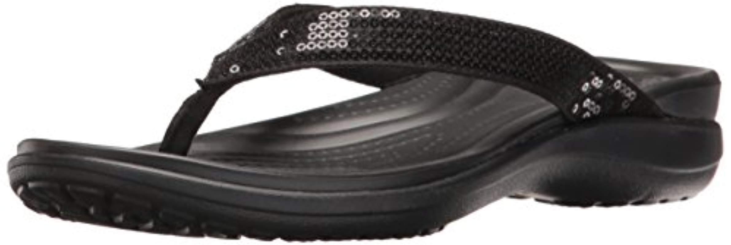 5a058978c44e Crocs™. Women s Black Capri V Sequin ...