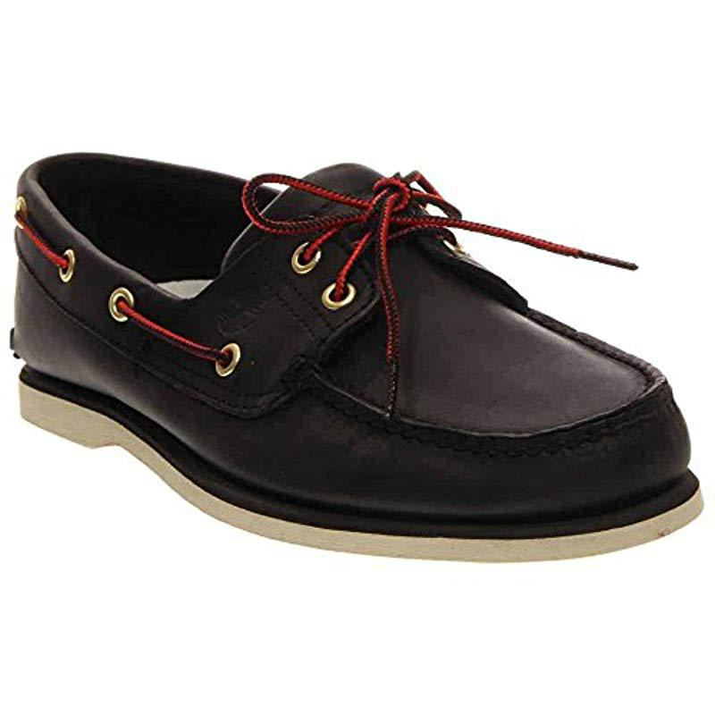 e867eccd1af Lyst - Timberland Classic-2 Eyed Boat Shoe in Black for Men