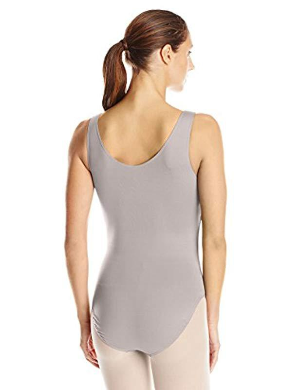 da1a274b105c3 Lyst - Danskin New York City Ballet Retro Style Fuax Wrap Leotard in Gray -  Save 3%