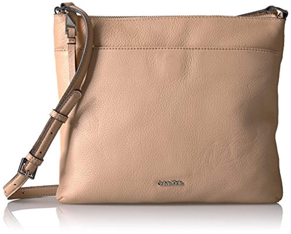 49212af91ca6 Calvin Klein. Women s Pebble Top Zip N s Large Crossbody