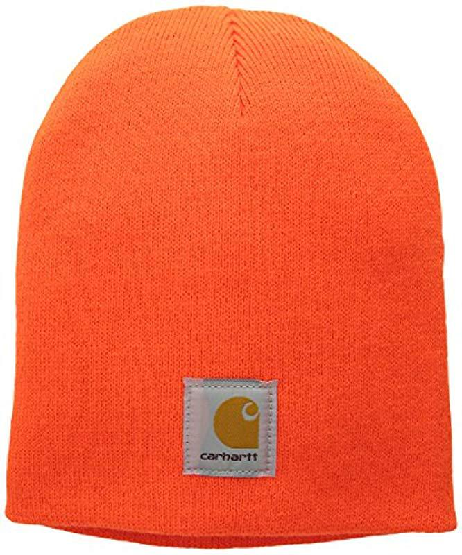 94b68cbf467 Carhartt - Orange Acrylic Knit Hat A205 for Men - Lyst. View fullscreen