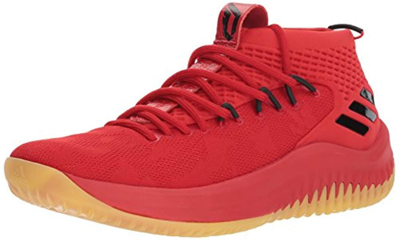 sports shoes 92fe1 225be adidas. Mens Red Dame 4 Shoe Basketball