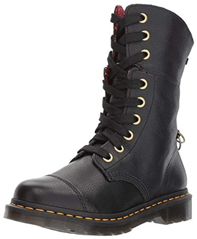 e7765a0579bf Lyst - Dr. Martens Aimilita Black Aunt Sally Leather Fashion Boot in ...