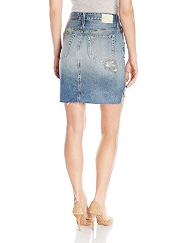 c89f200ceb Lyst - AG Jeans The Erin Jean Pencil Skirt in Blue