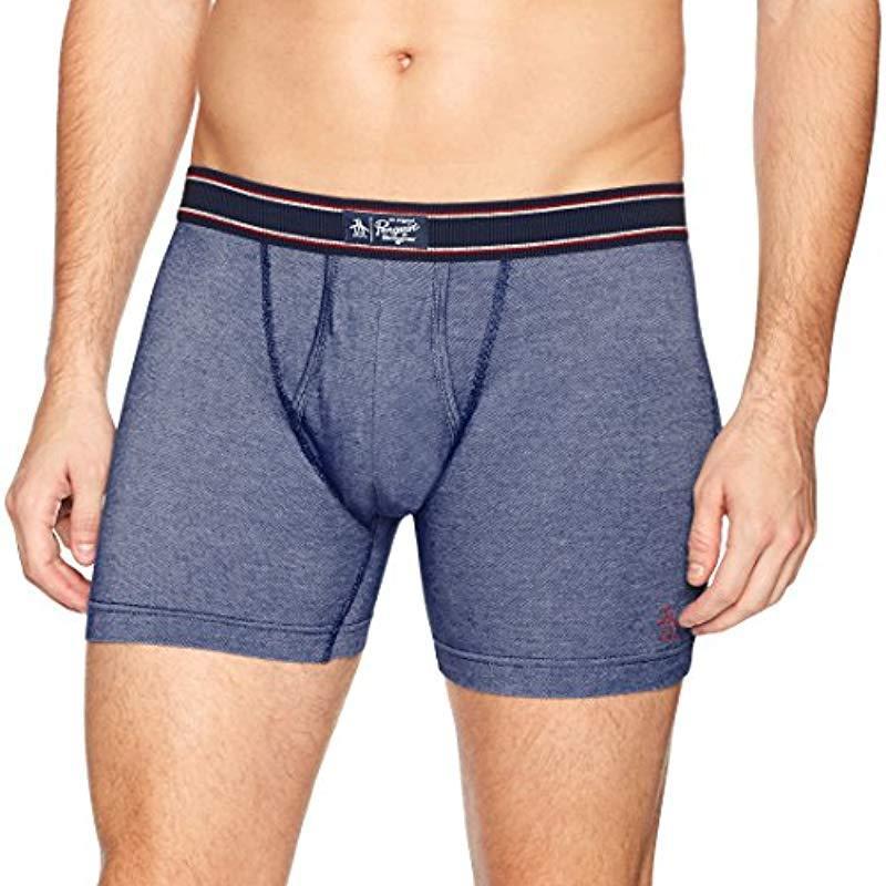 006840d43d84 Lyst - Original Penguin Cotton Spandex Boxer Brief Underwear in Blue ...