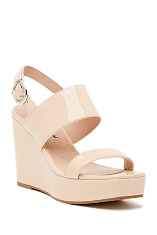 55f110de4b845 Lyst - Charles David Jordan Wedge Sandal in Natural - Save 66%