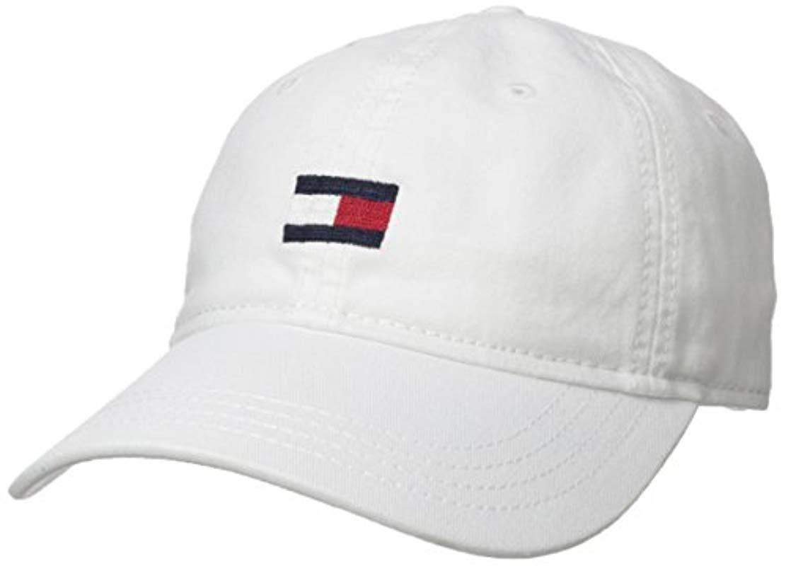 190e2c6b Tommy Hilfiger Ardin Dad Hat in White for Men - Lyst