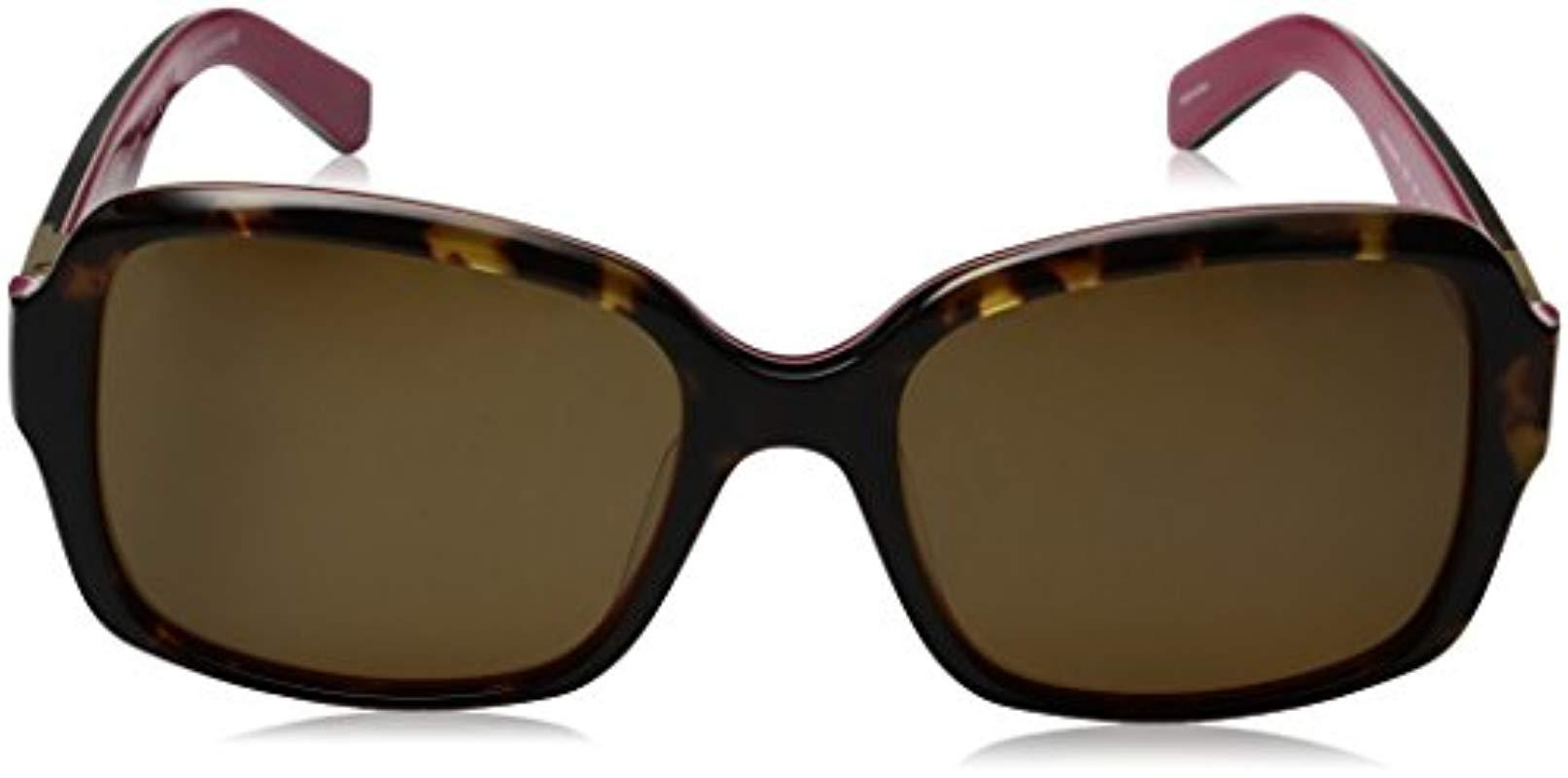 b08f1293d4 ... Brown Kate Spade Annora ps Annorps Polarized Rectangular Sunglasses -  Lyst. View fullscreen
