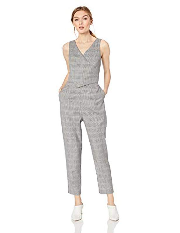 3ed0d8796023 Ali   Jay. Women s Gray Serious Business Sleeveless Straight Leg Slim  Jumpsuit