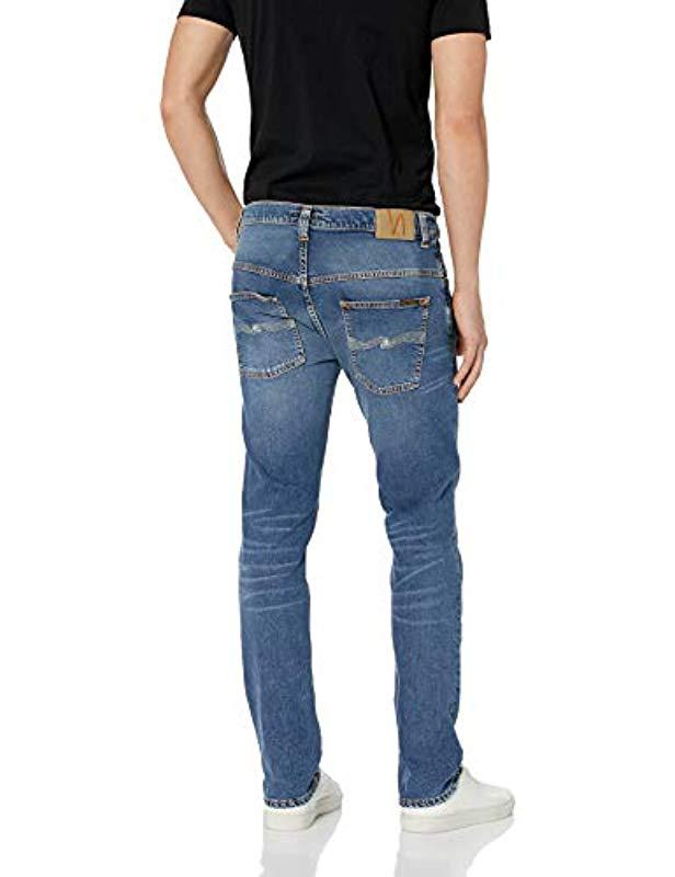 4a7b71ea2d64 Lyst - Nudie Jeans Thin Finn Mid Blue Ecru in Blue for Men