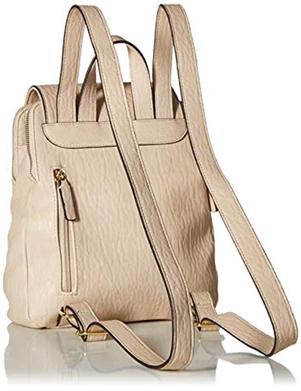 61f2ec353559 Lyst - Calvin Klein Elaine Bubble Lamb Novelty Key Item Flap Backpack in  Black
