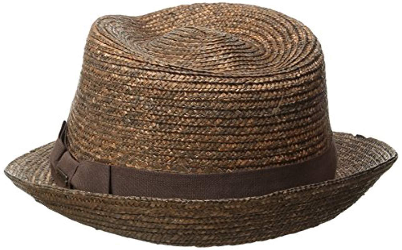 e949a683 Kangol - Brown Wheat Braid Arnold Trilby Hat for Men - Lyst. View fullscreen