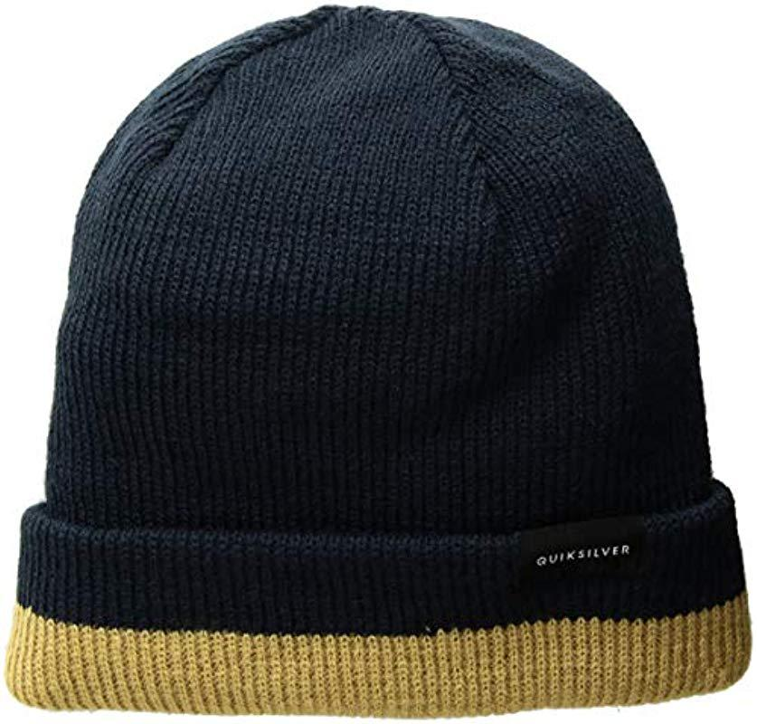 845b2eb5450 Lyst - Quiksilver Performed Color Block 2 Beanie in Blue for Men