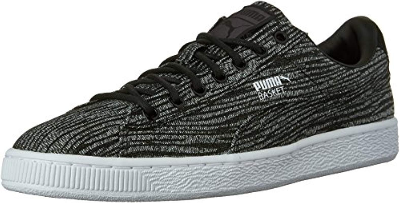 fbe9ea23f020c Lyst - PUMA Basket Classic Tiger Mesh Fashion Sneaker in Black for Men