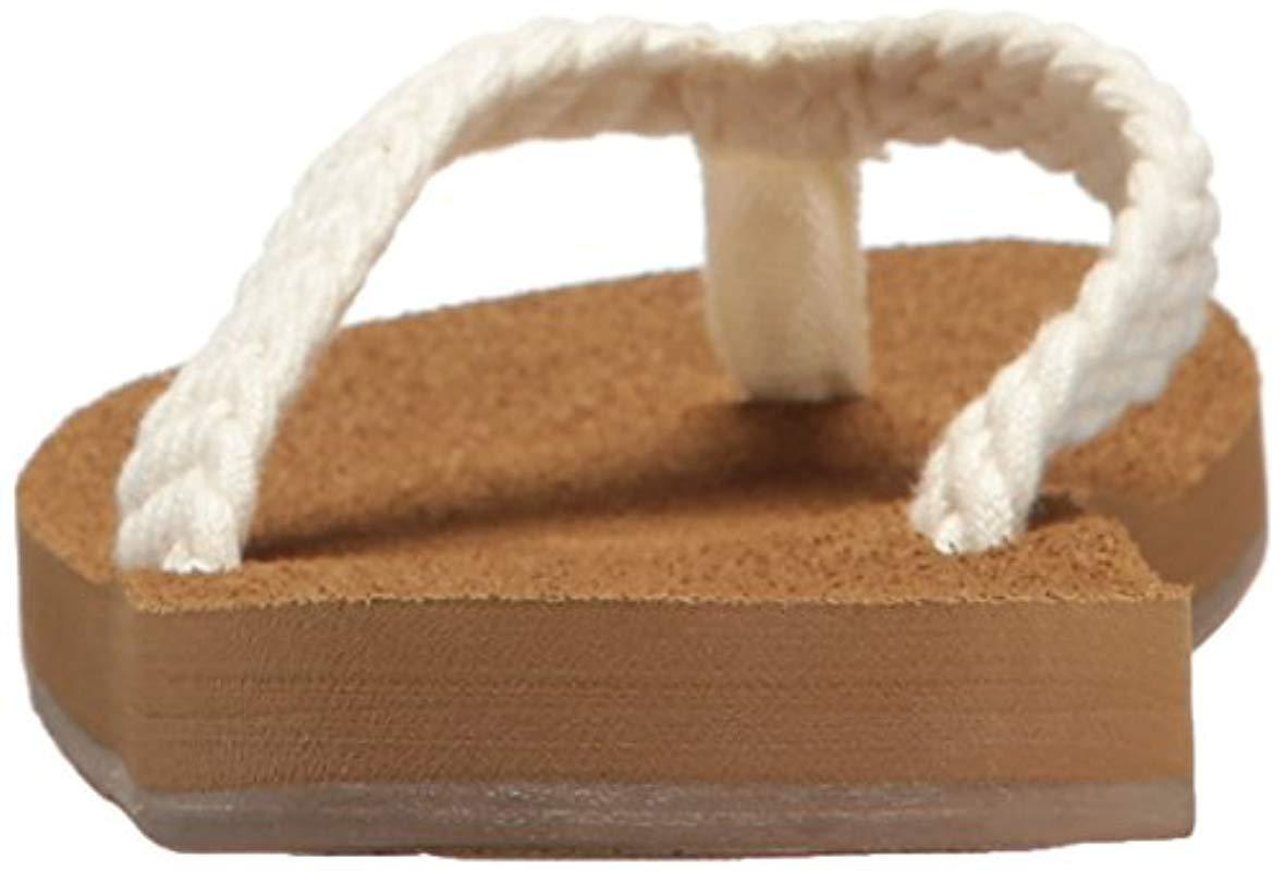 00cad60822b23b Lyst - Roxy Porto Sandal Flip-flop in Natural - Save 42.30769230769231%