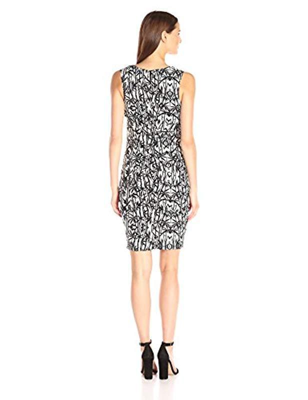 12e750b7898 Lyst - Nicole Miller Bamboozle Lauren Sheath Dress in Black