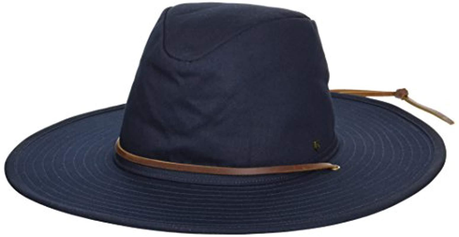 3e24bc358ad3a Lyst - Brixton Ranger Ii Wide Brim Cotton Fedora Hat in Blue for Men ...