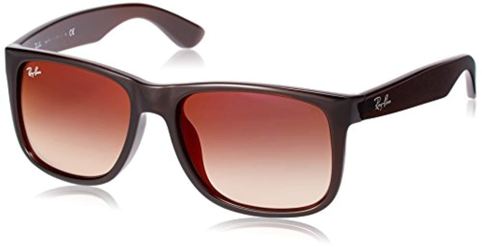 f5405f981b3a6b Lyst - Ray-Ban Justin Rb 4165f Sunglasses in Brown for Men