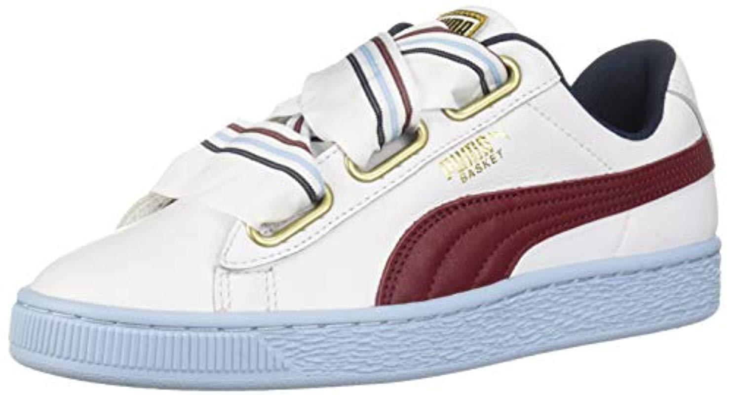 2048d4c4f0310 Women's White Basket Heart Wn's Sneaker