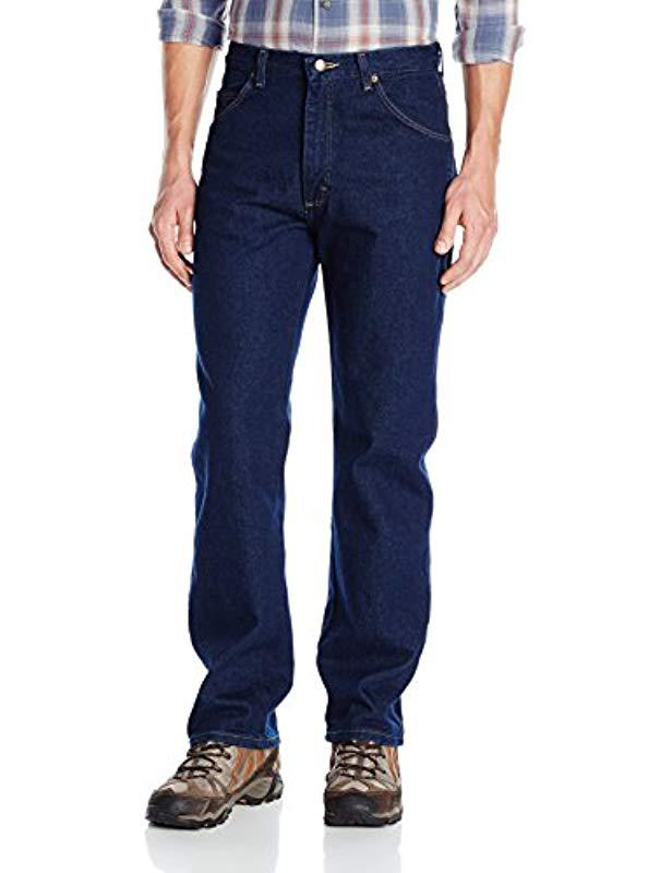 f4bb7cb1 Wrangler Rugged Wear Classic Fit Jean in Blue for Men - Save 9% - Lyst