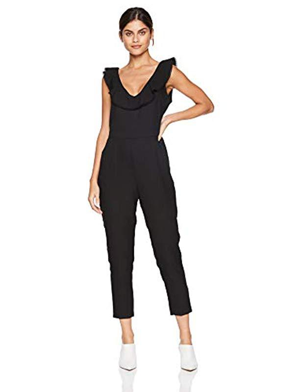 fe6b03189eb2 Lyst - Cupcakes And Cashmere Lima V-neck Jumpsuit With Ruffle in Black