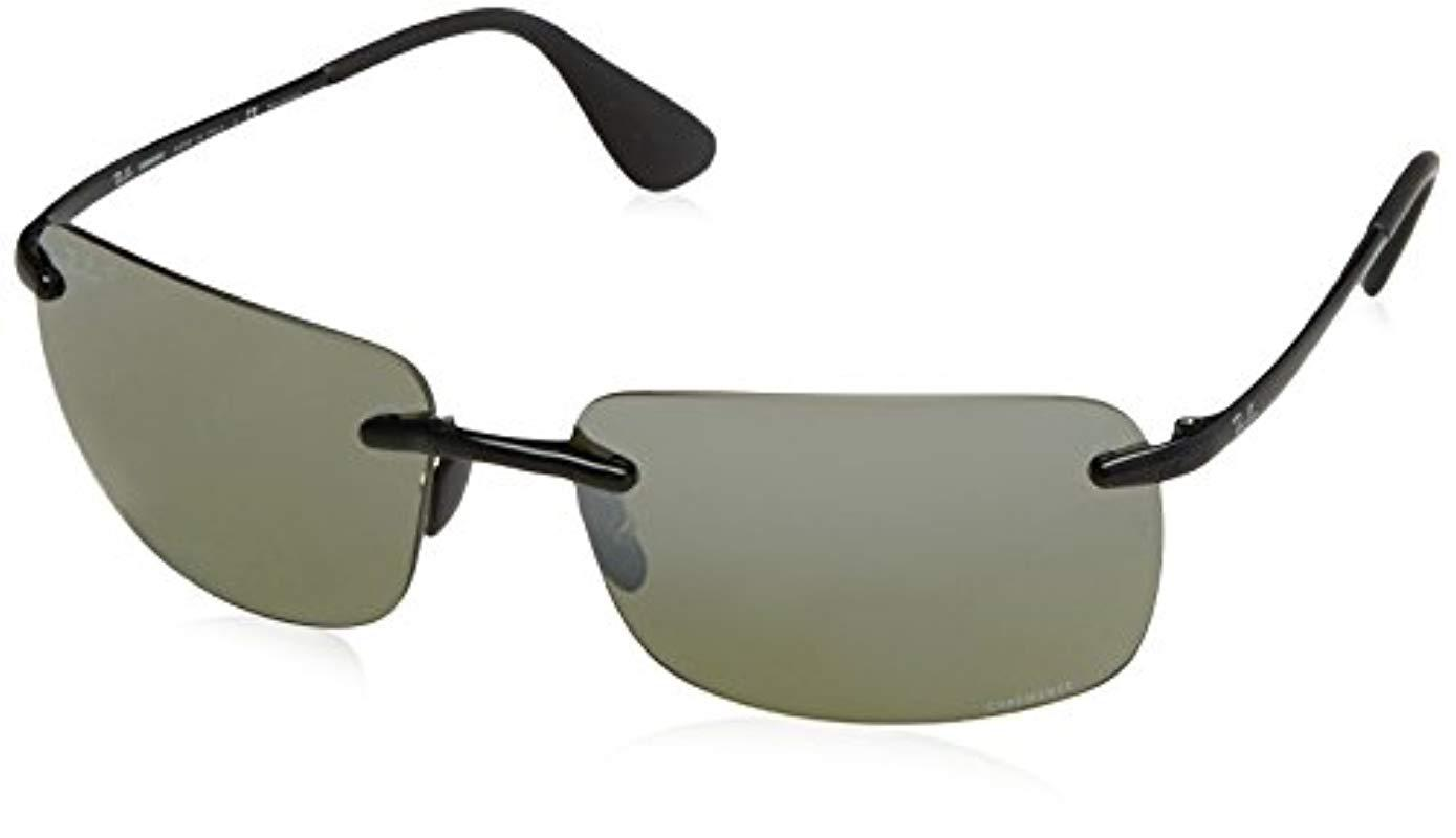 ba50356680 Lyst - Ray-Ban Rb4255 Chromance Lens Navigator Sunglasses in Black ...