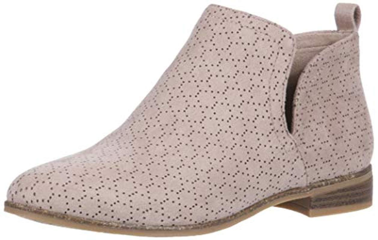7064a3c6b2b Lyst - Dr. Scholls Rate Ankle Boot Putty Microfiber Perforated 7 W ...