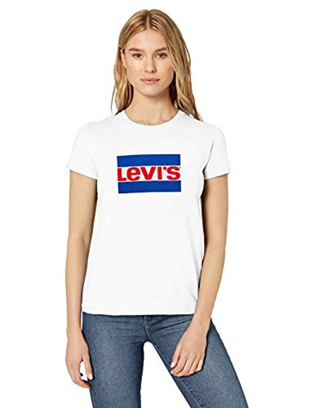 840be507 Lyst - Levi's Plus Size Perfect Tee Shirt in White