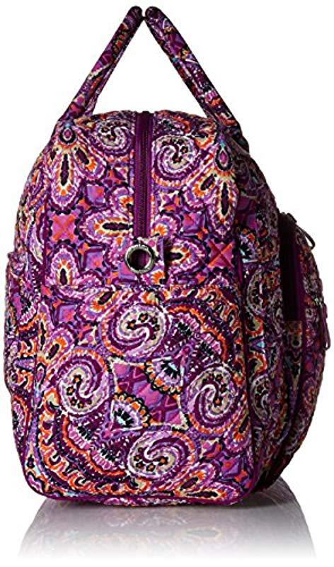 Vera Bradley - Purple Iconic Weekender Travel Bag 32232b3a30c73