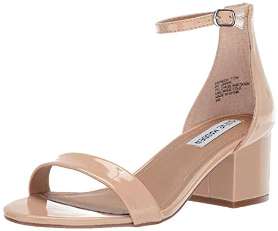 75bb8e0b4cf Lyst - Steve Madden Irenee Heeled Sandal in Natural - Save 15%