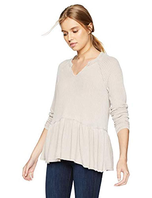 3c85531109c Lyst - William Rast Gryphon Raglan Sleeve Peplum Top
