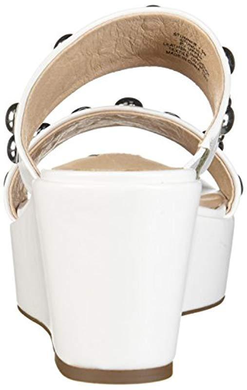 540f007fe79f Lyst - Steven by Steve Madden Stunner Wedge Sandal White multi 7 M ...