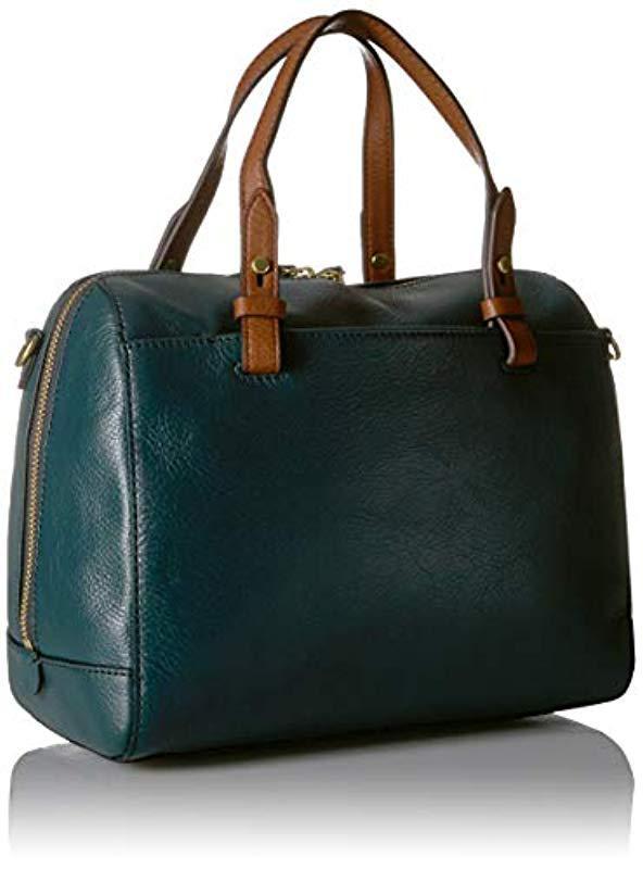 52e279e86bd6 Fossil - Green Rachel Satchel Handbag - Lyst. View fullscreen