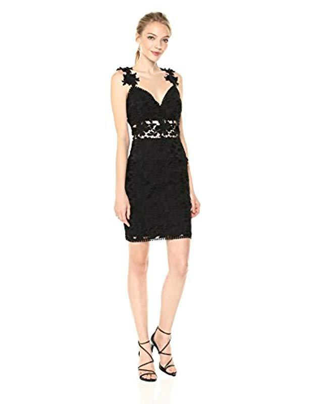 Lyst Nicole Miller Ruby Lace Sweetheart Dress In Black Save