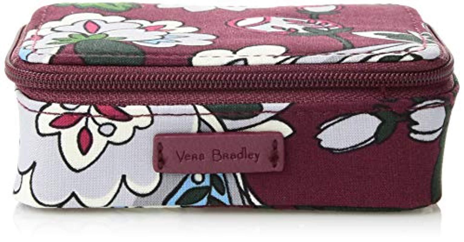 bc5d75f93d Vera Bradley - Purple Iconic Travel Pill Case