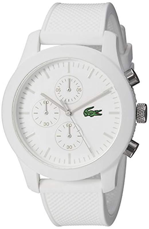 Lacoste. Men's 2010823 12.12 Analog Display Quartz White Watch