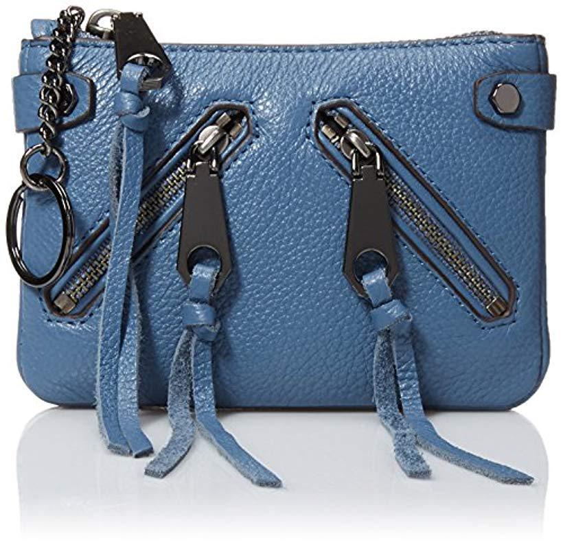 Lyst - Rebecca Minkoff Moto Pouch in Blue - Save 58.46153846153846% 15c2fec0413b0