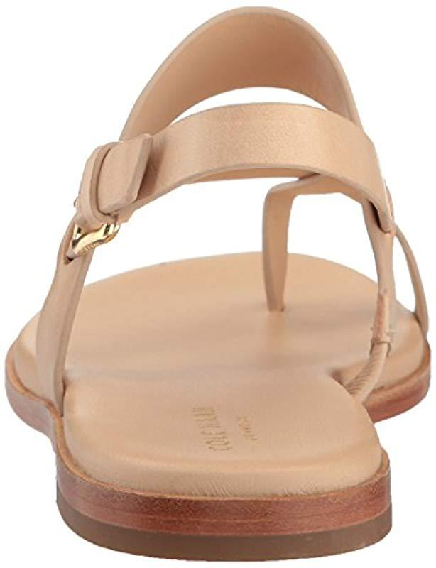 db3ccbb4208 Lyst - Cole Haan Anica Thong Sandal (nude) Women s Dress Sandals in Natural  - Save 1%