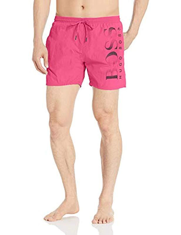 9a26476cd2 Lyst - BOSS Octopus Swim Trunk in Pink for Men