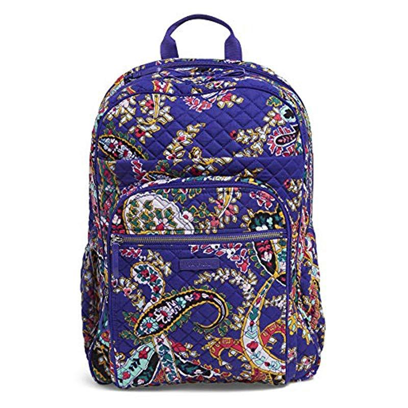 Vera Bradley. Women s Blue Iconic Xl Campus Backpack ... 96f9a4b72e291