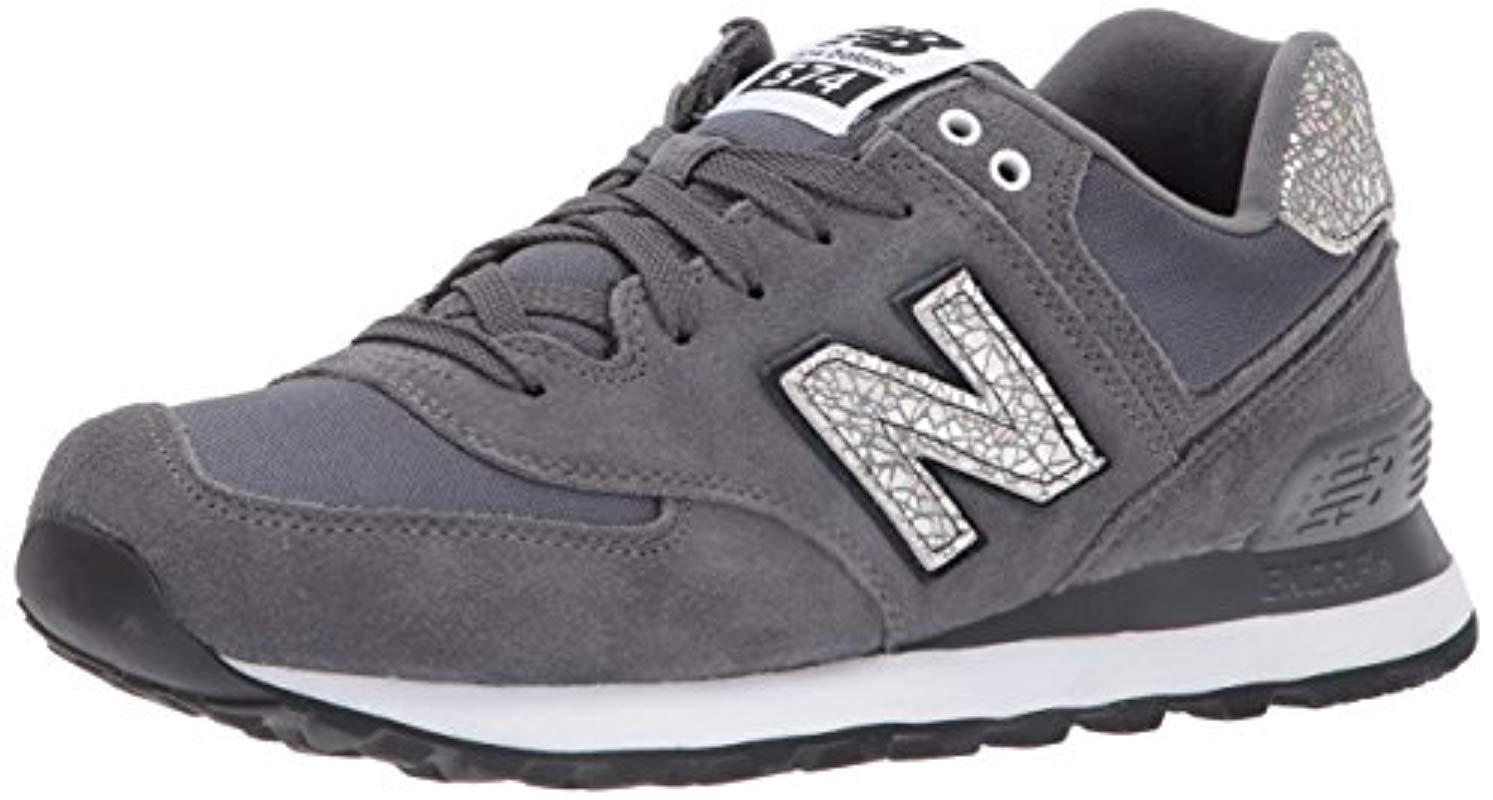ab54ebe12fa Lyst - New Balance 574v1 Shattered Pearl Sneaker in Black