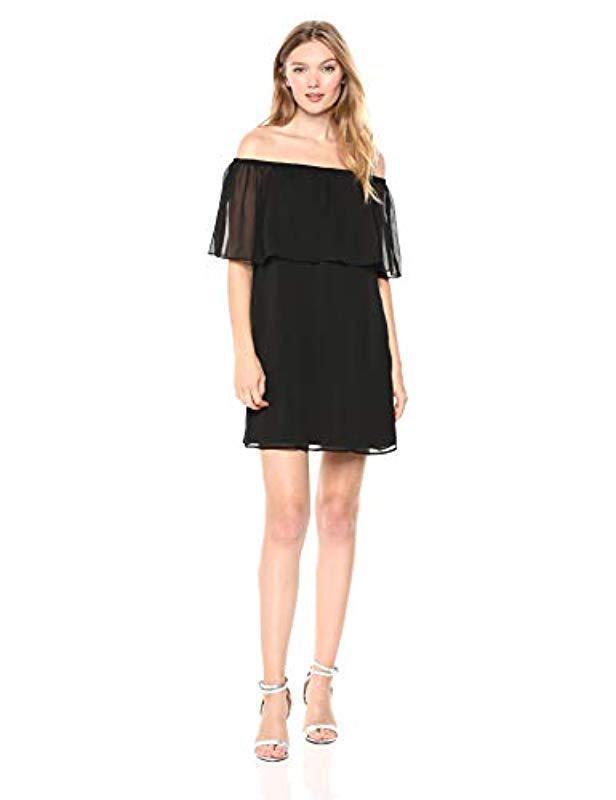 Lyst Bb Dakota Manic Pixie Dream Off The Shoulder Dress In Black
