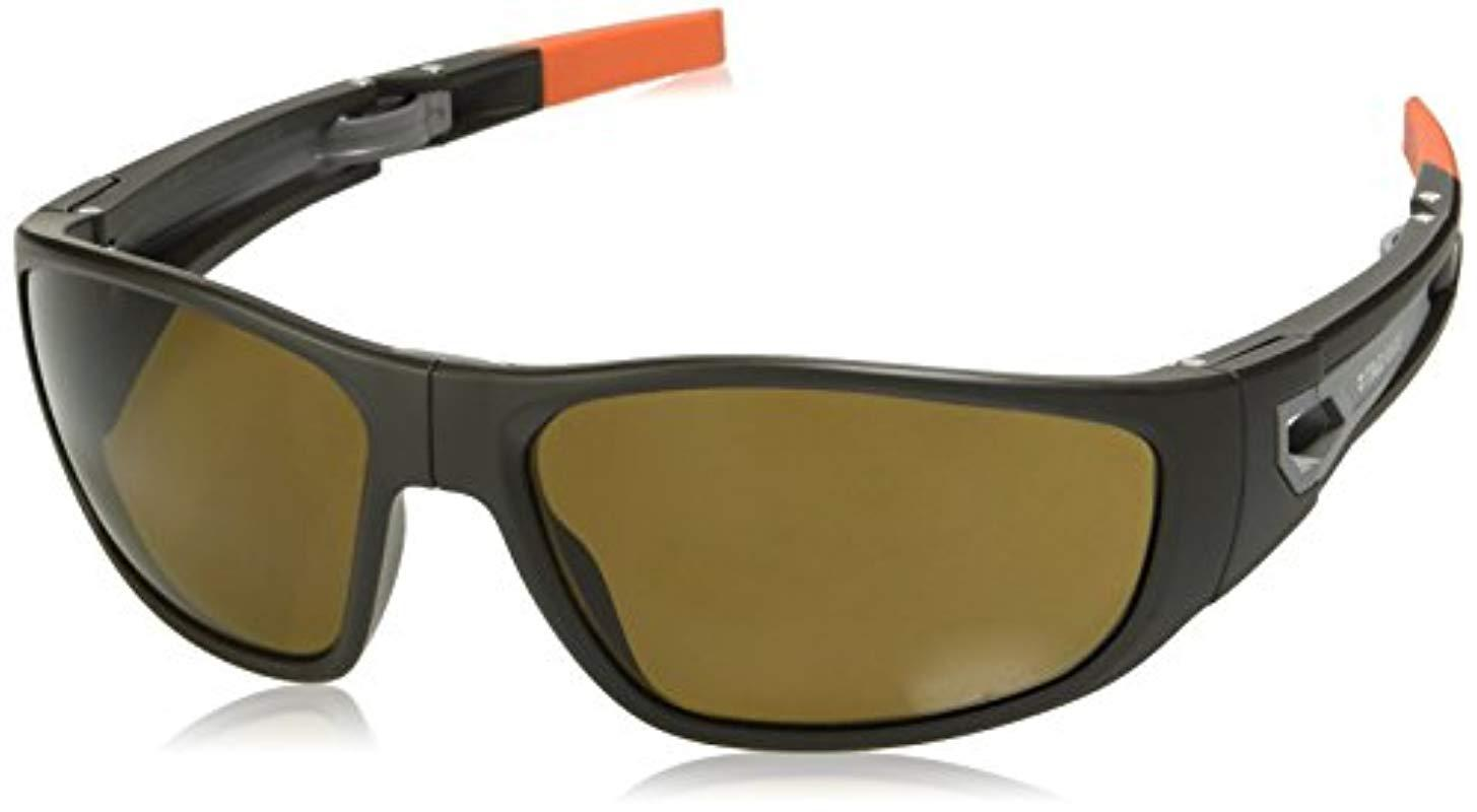 ca6f7b780cfb6 Lyst - Tag Heuer 66 9401 103 661703 Polarized Rectangular Sunglasses ...